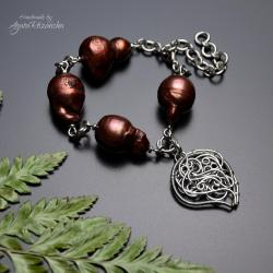bransoletka,regulowana,perły barokowe - Bransoletki - Biżuteria