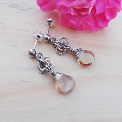 nowoczesne,krótkie,sztyfty,chainmaille - Kolczyki - Biżuteria