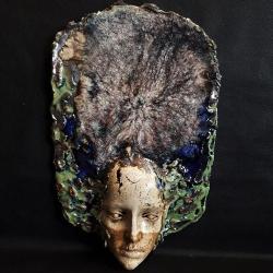 maska,twarz,dekoracja,ceramika - Ceramika i szkło - Wyposażenie wnętrz