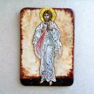 Ceramika i szkło Beata Kmieć,ikona ceramiczna,Jezus Miłosierny
