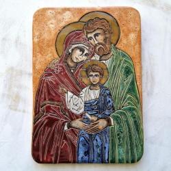 Beata Kmieć,ikona ceramiczna,św. Rodzina - Ceramika i szkło - Wyposażenie wnętrz