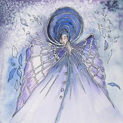 anioł,obraz,na ścianę,do wnętrza,ilustracja,dekor - Ilustracje, rysunki, fotografia - Wyposażenie wnętrz
