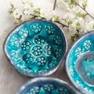 Ceramika i szkło ceramika,miseczki,turkusowe,komplet