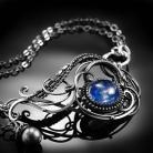 Bransoletki srebrna,bransoletka,wire-wrapping,kianit,niebieska
