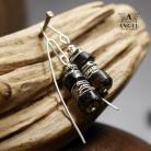 Kolczyki kolczyki z bursztynów,surowa biżuteria