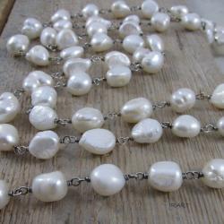 komplet bizuteri z pereł,naszyjnik i bransoletka - Komplety - Biżuteria