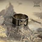 Dla mężczyzn pierścień z krzyżem maltańskim,obrączka
