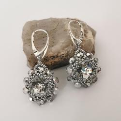 Kolczyki Srebrne Kwiatki Swarovski -Srebro - Kolczyki - Biżuteria