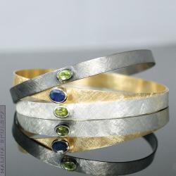 komplet,zestaw,szafir,peridot,kolorowe bransolety - Bransoletki - Biżuteria