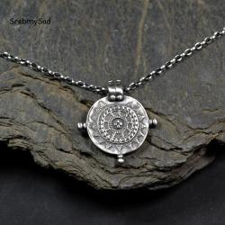 srebrna mandala,srebrny wisior,orginalny wisior - Naszyjniki - Biżuteria