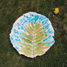 Ceramika i szkło patera,talerz,patera ceramiczna,liść,palma