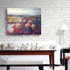 Obrazy pejzaż,obraz,czerwony,na ścianę,wnętrze,dmuchawce
