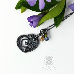 prezent na Dzień Matki,srebrny wisior serduszko - Wisiory - Biżuteria