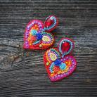 Kolczyki frida kahlo,kolczyki serca,kolorowe kolczyki