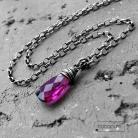 Naszyjniki delikatny,różowy,z kamieniem,codzienny,srebro