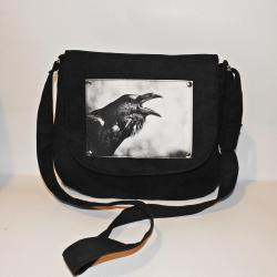 torebka z krukiem,torba z krukiem,torebka a4 - Na ramię - Torebki
