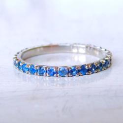 obrączka,pierścionek,platyna,szafir, - Pierścionki - Biżuteria