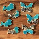 Ceramika i szkło zawieszka ceramiczna,ceramika,ptaszek,motyl