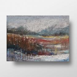 pastele,zima,łąka - Obrazy - Wyposażenie wnętrz