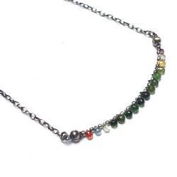 kamienie,minerały,krótki,delikatny,kolorowy - Naszyjniki - Biżuteria