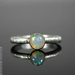 delikatny,prosty,elegancki,opal,minimalistyczny - Pierścionki - Biżuteria