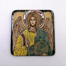 Beata Kmieć,ikona ceramiczna,Archanioł Michał - Ceramika i szkło - Wyposażenie wnętrz