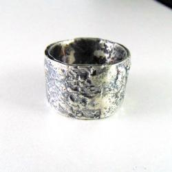 obrączka srebrna - Pierścionki - Biżuteria