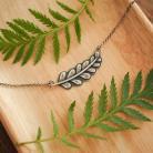 Naszyjniki liść paproci,naszyjnik liść,srebrny
