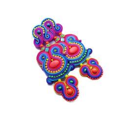 kolczyki soutache,etniczne kolczyki - Kolczyki - Biżuteria