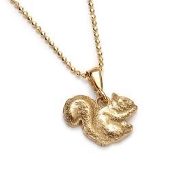 wisior wiewiórka,słoty wisiorek,złocony - Wisiory - Biżuteria