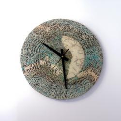 zegar ceramiczny,zegar ścienny,zegar na scianę - Zegary - Wyposażenie wnętrz