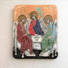 Ceramika i szkło Beata Kmieć,ikona ceramiczna,Trójca święta