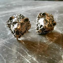 zahario,spinki,lwy,braz,natura,sila,moc,lew - Inne - Biżuteria