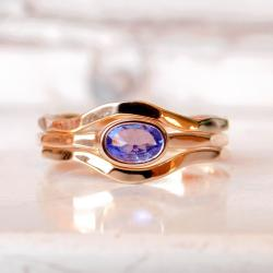 pierścionek,tanzanit, - Pierścionki - Biżuteria