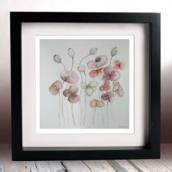 akwarela,kwiaty,pastelowe,kwadrat - Obrazy - Wyposażenie wnętrz