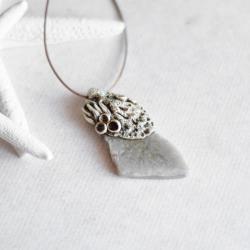 wisior z agatem,morski wisior - Wisiory - Biżuteria