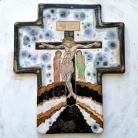 Ceramika i szkło Beata Kmieć,ikona ceramiczna,krzyż,ikona krzyża