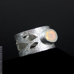 ażurowy,opal,regulowany,efektowny,wielobarwny - Pierścionki - Biżuteria