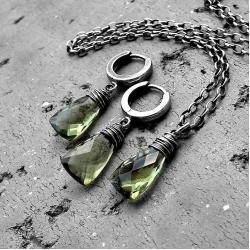 nowoczesny,srebrny,prezent,delikatny - Komplety - Biżuteria