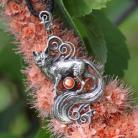 Wisiory lis,wisiorek z lisem,srebrny lisek,słoneczny