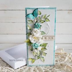 urodziny,imieniny,kartka - Kartki okolicznościowe - Akcesoria