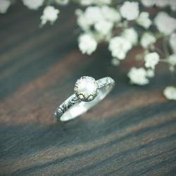 klasyka,perły,retro,róże,romantyczny - Pierścionki - Biżuteria