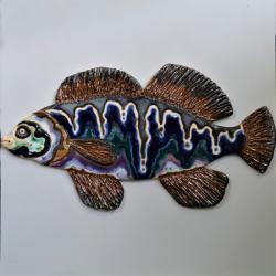 ryba,ceramika,obrazek,dekor,multicolor - Ceramika i szkło - Wyposażenie wnętrz
