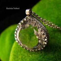 nehesi,naszyjnik,srebrny,srebro,górski,kryształ - Naszyjniki - Biżuteria