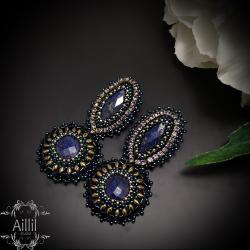 eleganckie,szykowne,ekskluzywne,haft - Kolczyki - Biżuteria