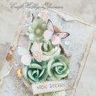 Kartki okolicznościowe urodziny,imieniny,kwiaty,motyl