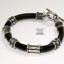 krzyżowiec,bransoleta męska skórzana - Dla mężczyzn - Biżuteria