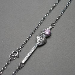 elegancki,delikatny,romantyczny,liść - Naszyjniki - Biżuteria