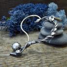 Naszyjniki srebrny,romantyczny,liście,natura,romantyczny,