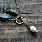 Naszyjniki przewlekany,delikatny,romantyczny,z perłą